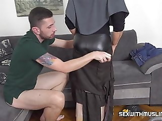Slacking muslim wife punished amateur blowjob handjob