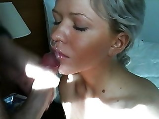 Cute Blonde Gets a Massive Facial amateur blonde blowjob