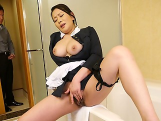 Rei Kitajima in Naughty maid Rei Kitajima caught masturbating - JapanHDV big tits maid solo female