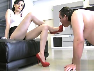 mistress anna with her clean slave hd slave fetish