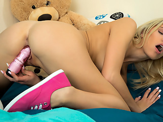 Khloe Kapri in Toy Me - NUBILES small tits blonde masturbation