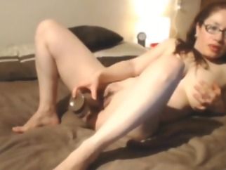 Webcam big black dildo fuck & suck Foxyrosi toys big ass skinny
