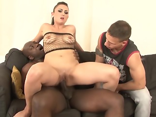 Cuckold watches his wife have anal sex with another man amateur interracial straight
