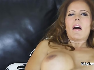 Nicky Ferrari - Double Dildo Double Fun! mature big ass big tits