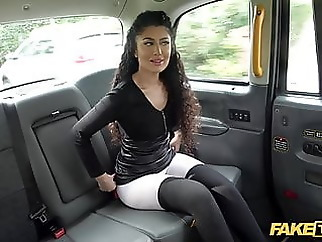 Fake Taxi Indian Marina Maya big ass bounces on John's Cock asian babe blowjob