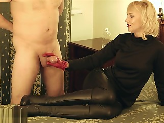 Cum in boots hd handjob fetish