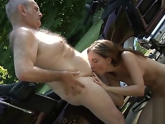 OLD YOUNG PORN - Grandpa Fucks Teen Hardcore blowjob girl doggystyle hardcore straight