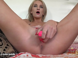 Tallie Lorain in Amateur Movie - AmKingdom solo female masturbation small tits