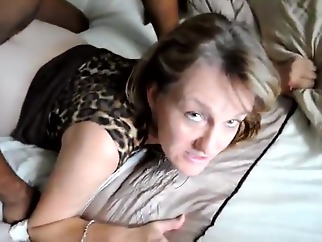 Cuckold watches wife enjoy BBC amateur cuckold interracial