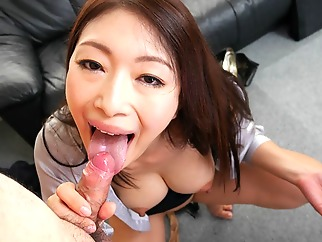 Reiko Kobayakawa in New office lady Reiko Kobayakawa sucks her boss cock - JapanHDV big tits cumshot facial